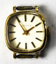 Vintage Longines F1 3009 15L Wristwatch 14k Solid Gold Case 18mm Not Running - $247.49