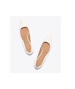 """NIB TORY BURCH Elizabeth Pointy-Toe 1 1/2"""" Leather Pump Size 9, white - $140.15"""