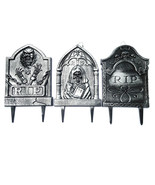 Halloween prop decoration Tombstone Gravestone 3-Pack Yard Stakes (a) O4 - $138.59