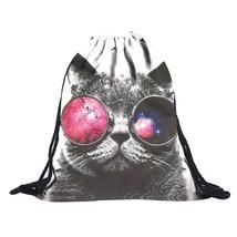 Drawstring Backpack Polyester Backpack 3D Print - $11.77 CAD