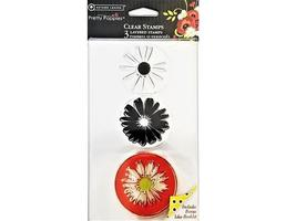 Autumn Leaves Layered Pretty Poppies Clear Cling Stamp Set #AL3377