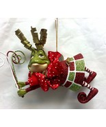 Katherine's Collection frog Wiggle Toe Christmas Ornament 05-12427 Red g... - $27.99