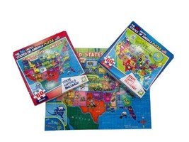(2) - The 50 United States of America 60 Piece Map Puzzle LPF - Homescho... - $18.61