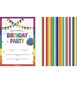 HEMARTY 25 Birthday Invitations with Envelopes Double Sided Large 5 x 7i... - $15.03