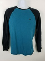 Vans Blue Black Long Sleeve Skateboard Shirt Sz M - $18.80