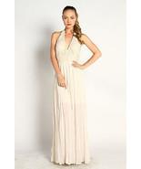 Crochet Lace maxi Dress Halter long Gauze wedding SMALL - $125.00