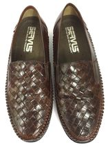 9 'Tijuana' 5D Huaraches Men's Woven Leather Shoes Stags Loafers Brown Deer qw4FZpzx