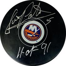 Denis Potvin Autographed New York Islanders Hockey Puck (JSA COA) HOF In... - $35.63