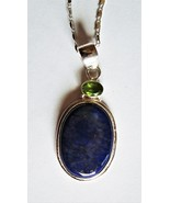 Beautiful - Lapis Lazuli and Sterling Silver Pendant with S/S Chain - $45.00
