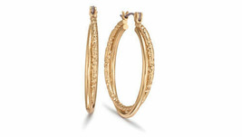 Avon Signature Classic Hoop Earrings Goldtone $20 NIB - $14.84