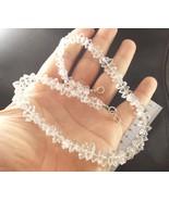 "Supreme Quality Cleanest Diamond Quartz beading necklac 16"" long 9-10mm ... - $41.58"