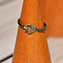 Vintage heart ring 925 sterling silver size 3.5 - $9.89