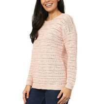 NEW Women's Leo & Nicole Ladies' Pointelle Sweater Pueblo Rose image 2