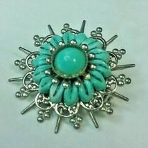 "Vintage Jewelry: 1"" Blue Lapel Pin/ Brooch 171202 - $6.99"