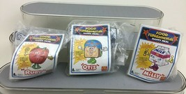 McDonalds Food Fundamentals Transforming Figures Toy Lot 3pc Vintage 199... - $9.75