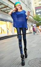 New Women Sexy PU Leather Stretchy Bandage Leggings Skinny Pants Trousers - $12.99