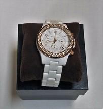 Michael Kors Unisex  MK5379 Glitz Classic Chronograph White Watch 100% AUTHENTIC - $94.04