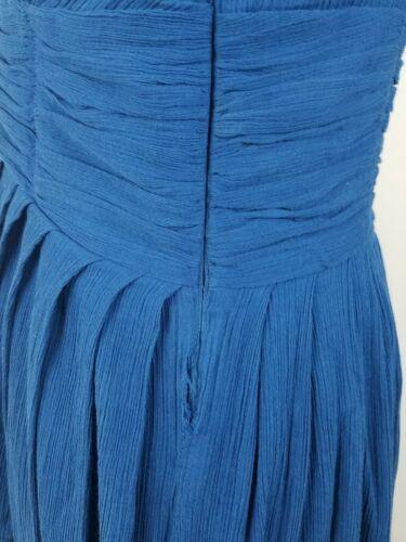 Marc Jacobs Femme 6 Jour Robe sans Manche Plissé Sweetheart Col Bleu image 4