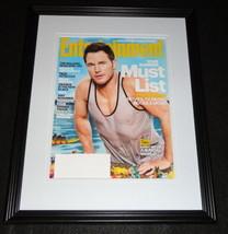 Chris Pratt Framed 11x14 ORIGINAL 2015 Entertainment Weekly Cover Jurass... - $22.55