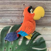 Disney Store Aladdin Iago Stuffed Animal Parrot Bird Plush 10 In Red Soft - $19.79