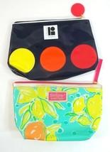 Estee Lauder Makeup Bag Lot of 2 Lily Pulitzer Lisa Perry Travel Size - $10.84