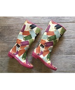 Vintage COACH Pammie Waterproof Rain Boots Bag Tag Design - Women's Size... - $60.00