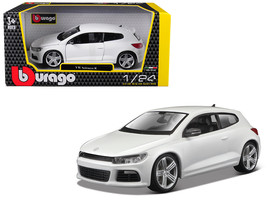 Volkswagen Scirocco R White 1/24 Diecast Model Car by Bburago - $25.49