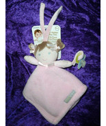 BLANKETS & BEYOND brown hair DOLL pink security blanket pacifier holder ... - $22.76