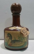 Vintage Italian Leather DECANTER Hand Painted Italy Ducks - Barware Coll... - $36.43