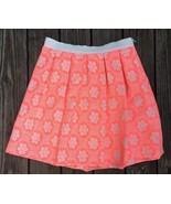BODEN Ariana Womens 10 Skirt Pleated Floral Jacquard Tropical Peach D8 - $31.67