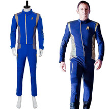 Star Trek Discovery Captain Lorca Cosplay Costume Blue Mens Command Unif... - $105.28+