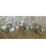 Set of 3 Poinsettia & Clear Glass Oil Fragrance Diffusers With Wicks Chr... - $10.36