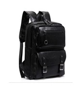 BDF Vintage Faux Leather Backpack School College Book bag Laptop Compute... - $65.09