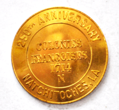 250th Anniversary Natchitoches LA Colonies France 1714 Oldest Town Medal... - $49.49