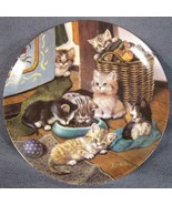 Cozy Commons Collector Plate Litter Rascals Jurgen Scholz Cats Kittens 1998 - $21.95
