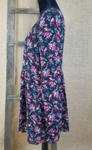 Forever 21 women small peasant long sleeve high waist dress floral lined image 3