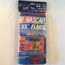 Nascar Jeff Gordon 3'x5' Flags Pack Red White Blue Wincraft Sports Racing - $19.79