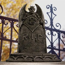 Tombstone Statue The Vampire Demon Halloween Decoration Outdoor Collectible - $1.577,08 MXN