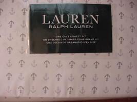 Ralph Lauren Gray Anchors on White Sheet Set Queen - $122.00