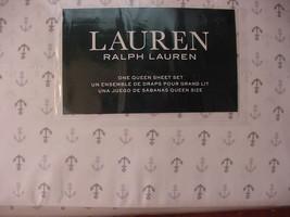 Ralph Lauren Gray Anchors on White Sheet Set Queen - $105.00