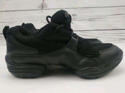 Capezio Fierce Dansneaker Split Sole Size 7 Jazz Hip Hop Shoes Black
