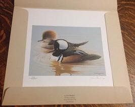 1986 S/N Maryland Migratory Waterfowl Stamp Print & Hunter Stamp - $150.00