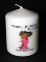 Betty Boop Pink Birthday novelty candle personalised keepsake gift Uniqu... - $11.69
