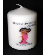 Betty Boop Pink Birthday novelty candle personalised keepsake gift Uniqu... - $12.86