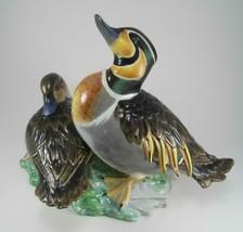 Herend Porcelain Baikal Teal Ducks, 15346 - C, Animal Figurine - Natural - $1,750.00