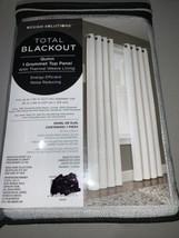 "Design Solutions QUINN White Total Blackout Curtain Panel 50""x95 New Return - $18.59"