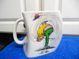 Golf Cup Mug The Results of Over Swing Lopsided cup - $7.29