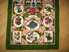 Bodnant Garden Souvenir Tea Towel - Vintage Sally Jane Textiles Colwyn Bay Wales image 3