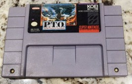 PTO / P.T.O. Pacific Theater of Operations Original SNES Super Nintendo game - $15.80