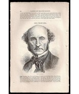 John Stuart Mill Article 1873 English Philosopher Suffrage Freedom of Sp... - $14.99